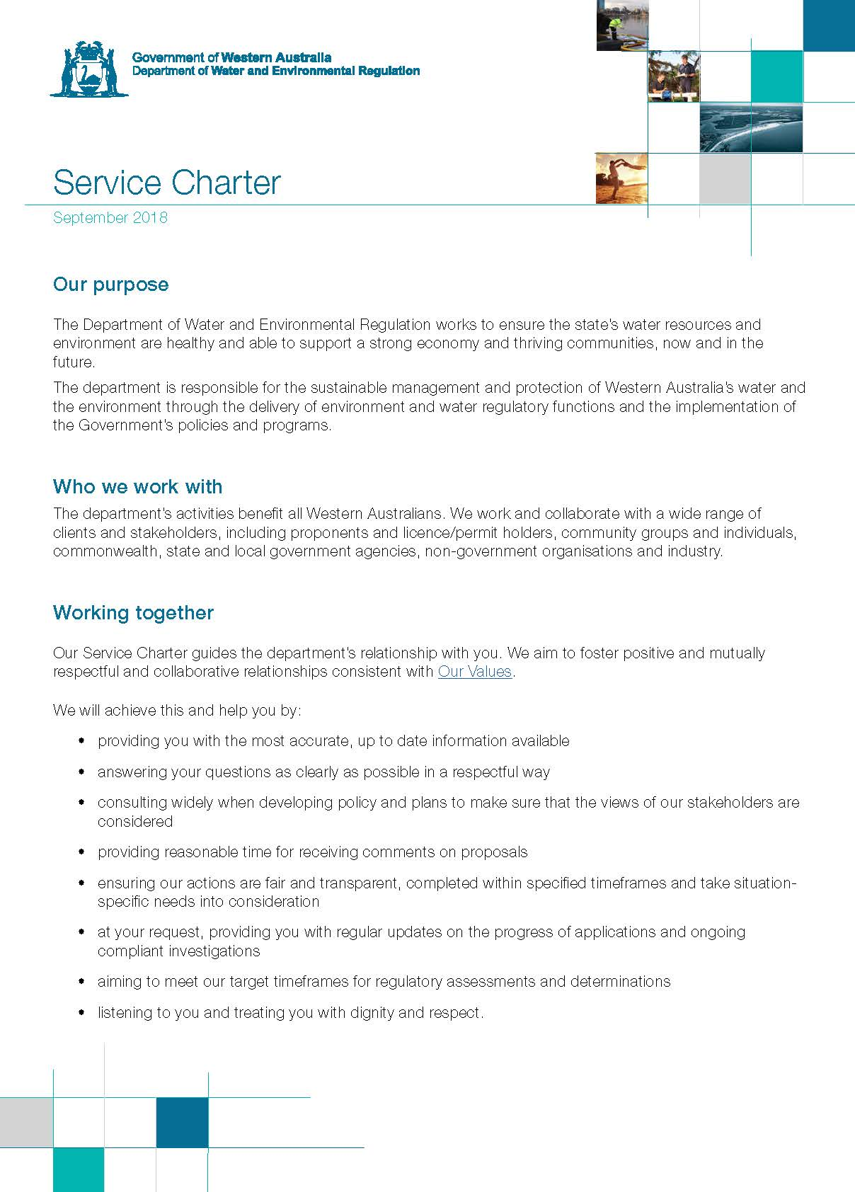 201809 Service Charter Page 1